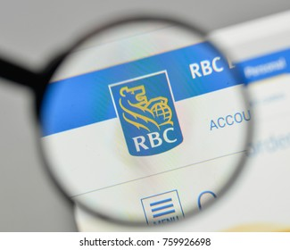 Milan, Italy - November 1, 2017: RBC logo on the website homepage.