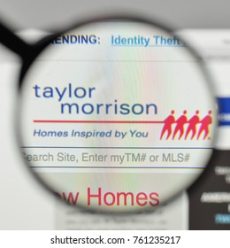 Milan, Italy - November 1, 2017: Taylor Morrison Home logo on the website homepage.