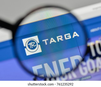 Milan, Italy - November 1, 2017: Targa Resources logo on the website homepage.