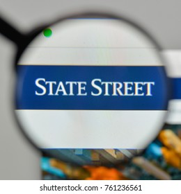 Milan, Italy - November 1, 2017: State Street Corp. logo on the website homepage.