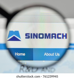 Milan, Italy - November 1, 2017: Sinomach logo on the website homepage.