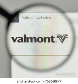 Milan, Italy - November 1, 2017: Valmont Industries logo on the website homepage.