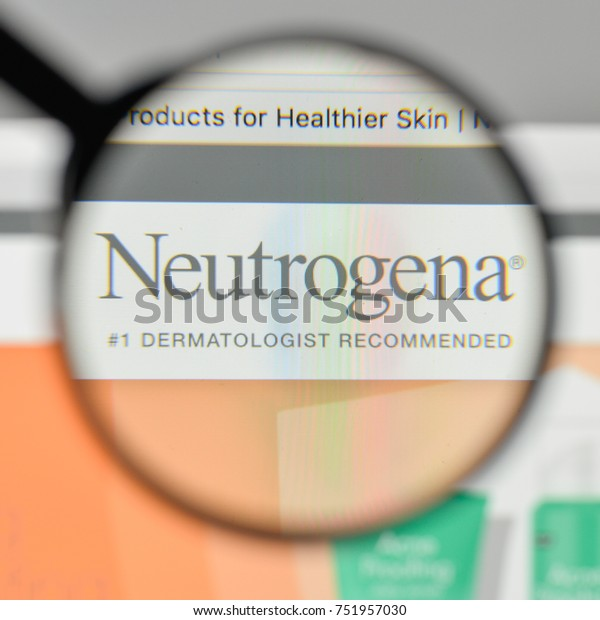 Milan, Italy - November 1, 2017: Neutrogena logo on the website homepage.
