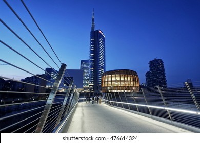 MILAN, ITALY - November 13, 2015: New business district Milano Porta Nuova Garibaldi.