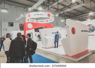 MILAN, ITALY - NOVEMBER 14: People visit Sicurezza, leading international event in the sector of security on NOVEMBER 14, 2019 in Milan.
