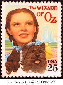 Milan, Italy - November 17, 2016: Movie Wizard of Oz on american postage stamp