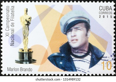 Milan, Italy – November 17, 2016: Portrait of Marlon Brando on cuban stamp