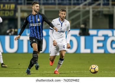 Milan, Italy. November 19, 2017. Campionato Italiano di SerieA, Inter-Atalanta 2-0. Roberto Gagliardini, Inter.