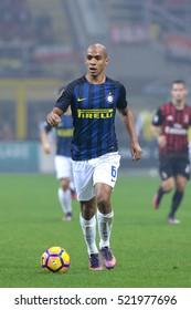 Milan, Italy, november 2016: Joao Mario in action during the football match beetwen AC MILAN vs FC INTER Italy league Serie A, San Siro stadium Milan november 20 2016