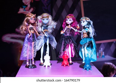 MILAN, ITALY - NOVEMBER 22: Gothic Barbie dolls on display at G! come giocare, trade fair dedicated to games, toys and children on NOVEMBER 22, 2013 in Milan.