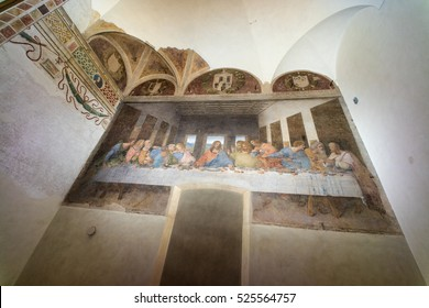 MILAN, ITALY - NOVEMBER 24, 2016: The Last Supper in the refectory of the Convent of Santa Maria delle Grazie. It is a late 15th-century mural painting by Leonardo da Vinci.
