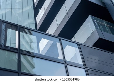 Milan, Italy - November 30, 2019: Milan, Lombardy, Italy: modern buildings in Alvar Aalto square. Torre Solaria, the highest residential building in Italy