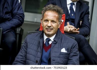 Milan, Italy. November  5, 2017. Campionato Italiano di SerieA, Inter vs Torino 1-1. Sinisa Mihajlovic, coach Torino.