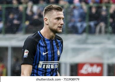 Milan, Italy. November  5, 2017. Campionato Italiano di SerieA, Inter vs Torino 1-1. Milan Skriniar, Inter.
