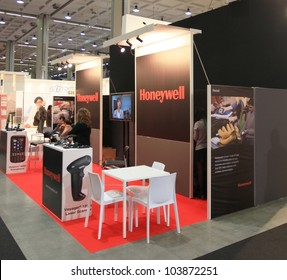 MILAN, ITALY - OCT. 19: Honeywell stand during SMAU, international fair of business intelligence and information technology October 19, 2011 in Milan, Italy.
