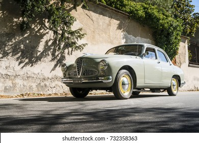 MILAN / ITALY - OCTOBER 07, 2017: Classic car, Alfa Romeo, during a meeting of vintage cars.