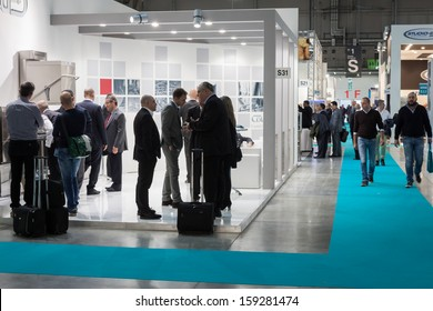 MILAN, ITALY - OCTOBER 18: People visit Host 2013, international exhibition of the hospitality industry on OCTOBER 18, 2013 in Milan.