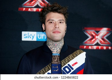 MILAN, ITALY - OCTOBER 22: Fedez attends the the photo-call of X-Factor Italy 2018 at Ciak theatre on October 22, 2018 in Milan, Italy.