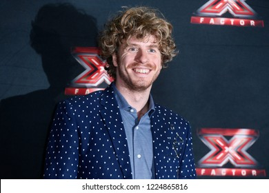 MILAN, ITALY - OCTOBER 22: Lodo Guenzi attends the the photo-call of X-Factor Italy 2018 at Ciak theatre on October 22, 2018 in Milan, Italy.