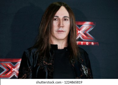 MILAN, ITALY - OCTOBER 22: Manuel Agnelli attends the the photo-call of X-Factor Italy 2018 at Ciak theatre on October 22, 2018 in Milan, Italy.