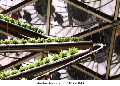 Milan, Italy, October 28 2015: Belgian Pavilion interior in Expo Milano 2015