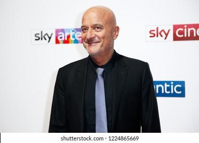 MILAN, ITALY - OCTOBER 29: Claudio Bisio attends the Sky Show Schedule Presentation at Palazzo Del Ghiaccio on October 29, 2018 in Milan, Italy.