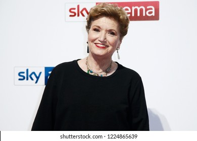 MILAN, ITALY - OCTOBER 29: Mara Maionchi attends the Sky Show Schedule Presentation at Palazzo Del Ghiaccio on October 29, 2018 in Milan, Italy.