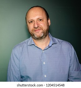 MILAN, ITALY - OCTOBER 5: French video game designer, writer and musician David Cage poses at Games Week 2018, event dedicated to video games and electronic entertainment on OCTOBER 5, 2018 in Milan.