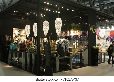 MILAN, ITALY - SEP 18, 2017: Products displayed by VGnewtrend at HOMI lifestyle trade fair 2017, semptember edition