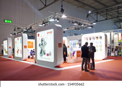 MILAN, ITALY - SEPT 12: Booths and people walking in Macef, International Home Show Exhibition on September 12, 2013 in Milan, Italy