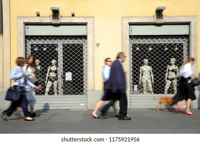 Milan, Italy , September 10,2018 - Minister Di Maio proposes the closure of the business activities ( shop and commercial center ) on Sunday