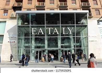 Milan, Italy , September 10,2018 - Minister Di Maio proposes the closure of the business activities ( shop and commercial center ) on Sunday - eataly store