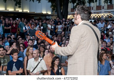 MILAN, ITALY - SEPTEMBER 12: Participant of third day of the 'Milano Film Festival' held on September 12, 2010 in Milan. The festival, since 1995, invites hundreds of filmmakers, musicians and short films from all over the world.