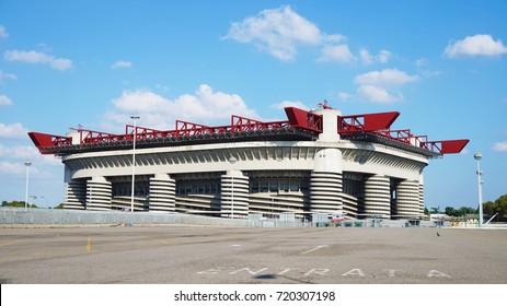 MILAN, ITALY - SEPTEMBER 13, 2017: San Siro Stadium Milan, Italy