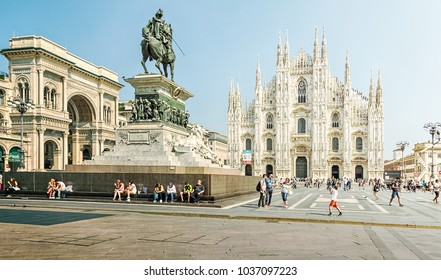 Milan, Italy - September 14, 2016: Milan Cathedral, Cathedral of the Nativity of the Virgin Mary - Cathedral in Milan, is located in the historic center of the city and is its symbol.