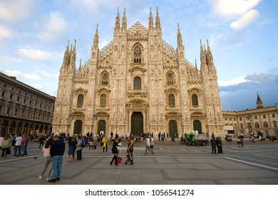 MILAN, ITALY - SEPTEMBER 17, 2017: View of the Cathedral of the Nativity of the Virgin Mary (Duomo di Milano)
