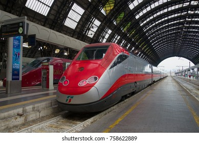 MILAN, ITALY - SEPTEMBER 18, 2017: Frecciarossa high-speed train