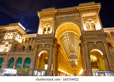 MILAN, ITALY - SEPTEMBER 2: Galleria Vittorio Emanuele II on September 2, 2012 in Milan. It's one of the world's oldest shopping malls, designed and built by Giuseppe Mengoni between 1865 and 1877.