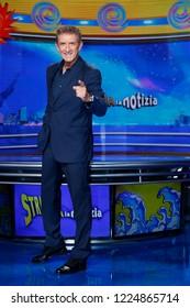MILAN, ITALY - SEPTEMBER 20: Ezio Greggio attends a photo-call for the new season of the tv-show 'Striscia La Notizia' on September 20, 2018 in Milan, Italy.