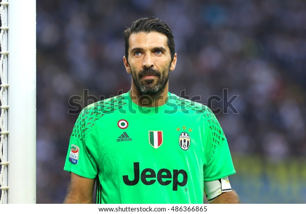 9afaedea7 Milan, Italy, september 2016: Gianluigi Buffon during the football match  between FC INTER