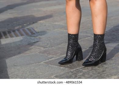 30bef81c603 MILAN FEBRUARY 21 Woman Louis Vuitton Stock Photo (Edit Now ...