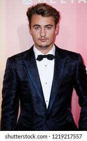 MILAN, ITALY - SEPTEMBER 22: Brandon Thomas Lee walks the red carpet of amfAR Gala Night at La Permanente building on September 22, 2018 in Milan, Italy.