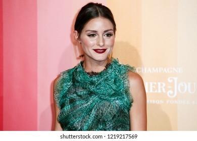 MILAN, ITALY - SEPTEMBER 22: Olivia Palermo walks the red carpet of amfAR Gala Night at La Permanente building on September 22, 2018 in Milan, Italy.