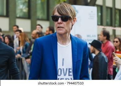 MILAN, ITALY - SEPTEMBER 23, 2017: Ken Downing before Georgio Armani fashion show at Milan Fashion Week Spring/Summer 2018.
