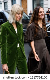 Milan, Italy - September 23, 2018: Street style outfits during Milan Fashion Week - - MFWSS19