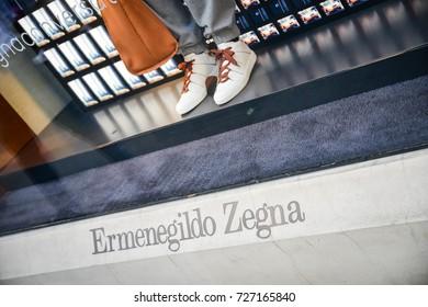Milan, Italy - September 24, 2017:  Zenga store in Milan. Fashion week  Zenga  shopping