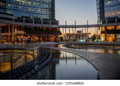 Milan Italy September 26th 2018:new directional district, Piazza Gae Aulenti in Milan