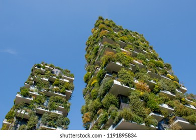 """Milan Italy September 26th 2018:Vertical forest of Milan, the """"most innovative skyscraper in the world""""."""