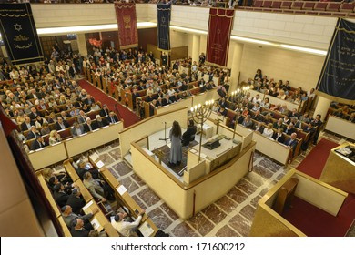 MILAN, ITALY - SEPTEMBER 29: A jewish lesson during the Jewish City Festival  inside the synagogue in Milan September, 29 2013.