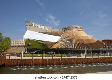 MILAN, ITALY-June, 2015: pavilion  of Thailand at EXPO 2015, in Milan.